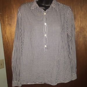 J.Crew checkered plaid blouse
